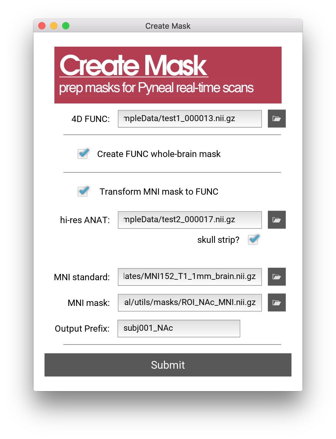 Creating Masks - Pyneal Docs